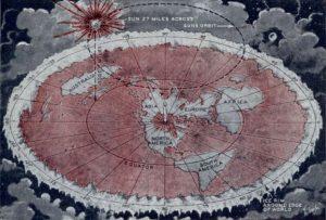 Carte de la terre plate
