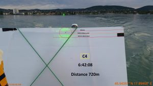 Mesures au laser sur un lac