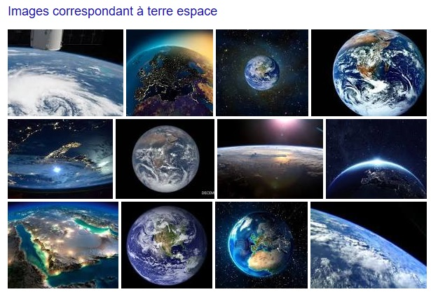 Photos de la terre via google image