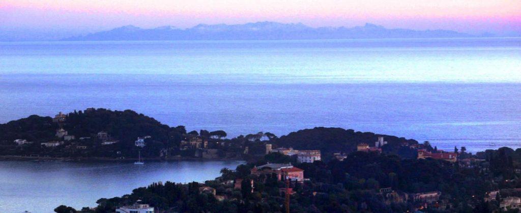 Visibilité de la Corse depuis Nice