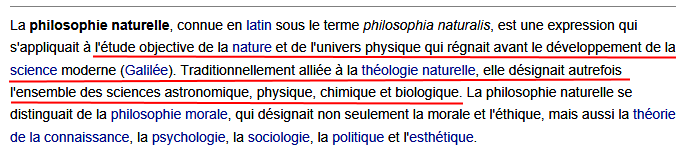 Philosophie naturelle