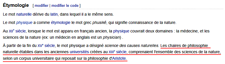 La philosophie naturelle