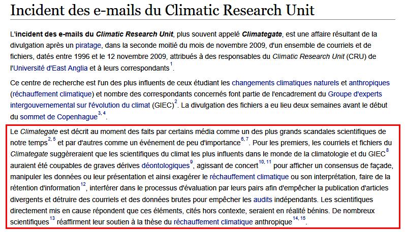 "Scandale du ""ClimateGate"""