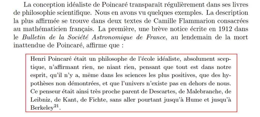 La philosophie de Henri Poincaré