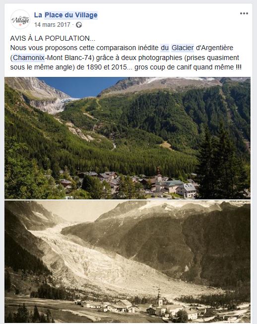 Fonte du glacier d'Argentière